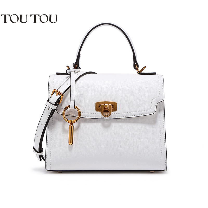 TOUTOU handbag 2018 women bag joker contracted fashion lock bag one shoulder inclined shoulder bag classic color free shipping free shipping 2014 boom bag leisure contracted one shoulder bag chain canvas bag page 2
