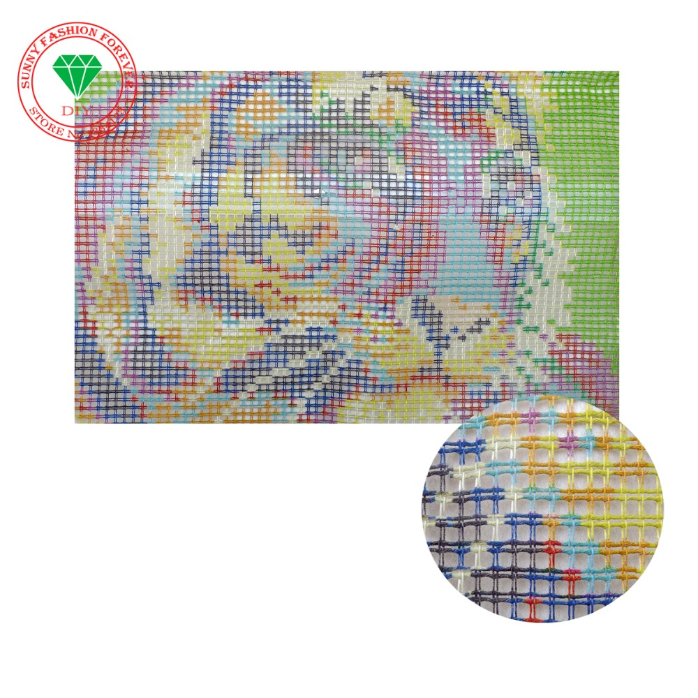 Free Shipping Diy Needlework Kits Unfinshed Crocheting Yarn Mat Latch Hook Rug Kit Flowers Pictures Floor Rugs And Carpets In From Home