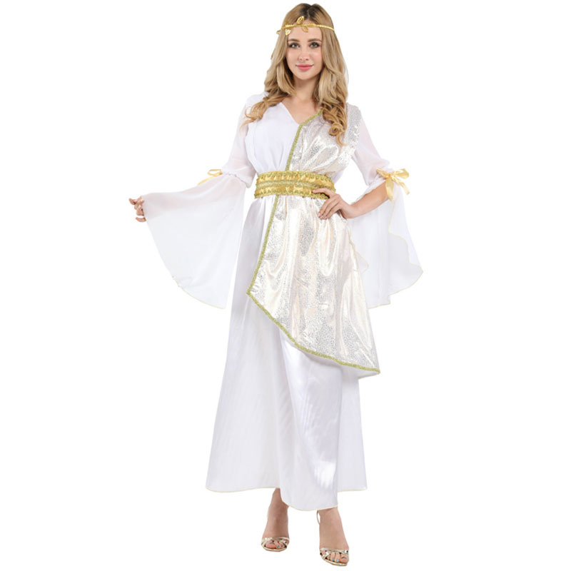 Greek Greece Athens Athena Goddess Roman Queen Empress Costume for Women Adult Halloween Carnival Mardi Gras Party Fancy Dress