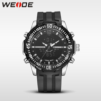 WEIDE Men LED Electronic Watches Top Brand Luxury Men Watch Black Quartz Sports Silicone Watches Camping
