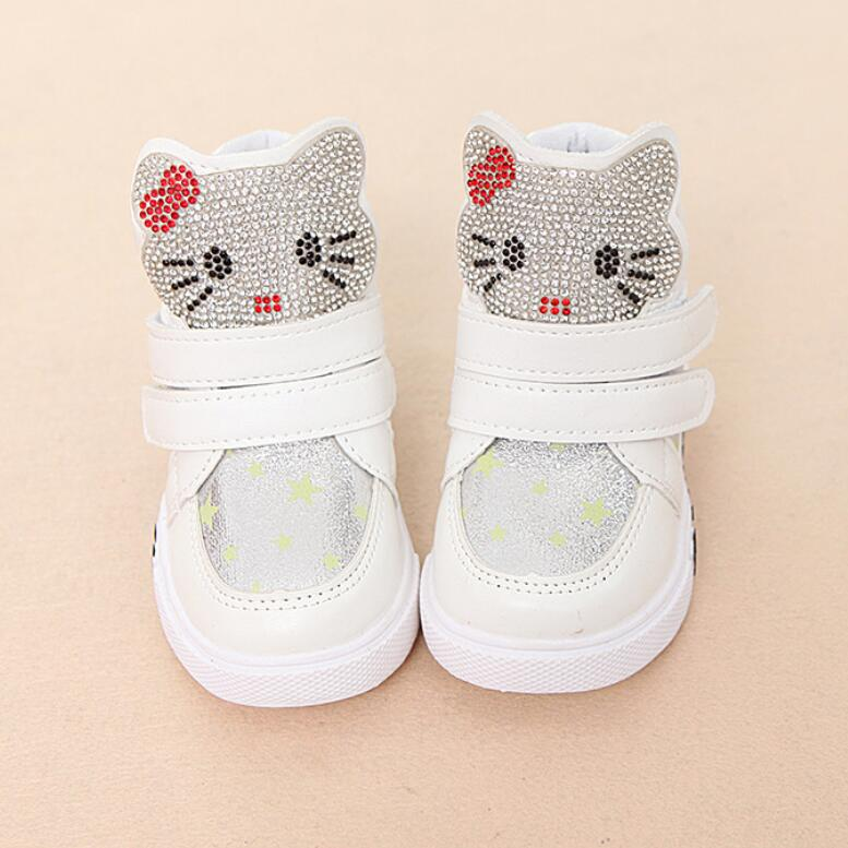 Princess Girls Boots Children Shoes New Autumn Fashion Girl Snow Boots Kids Soft Bow Cute Girls Shoes Size 21-30
