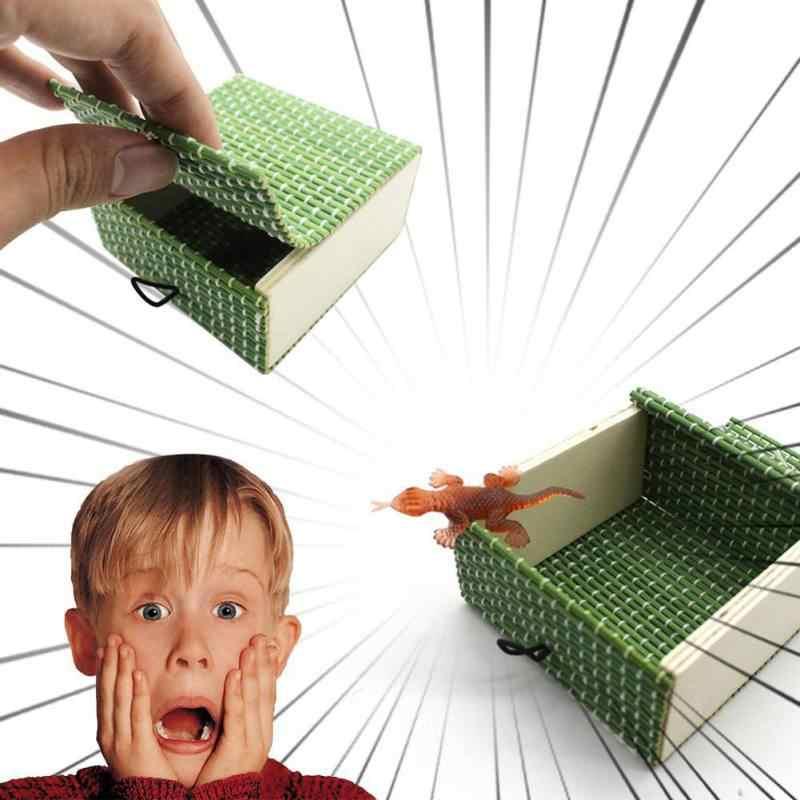 День Дурака апреля Забавный подарок пародия пугать Маленькая деревянная коробка страшные девушки трюк Веселые удивительные насекомые коробка Детские игрушки новинка подарок 1 шт.