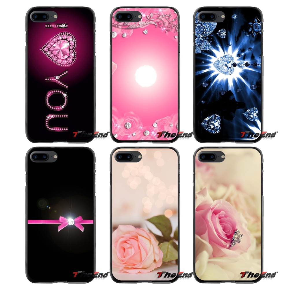 For Apple iPhone 4 4S 5 5S 5C SE 6 6S 7 8 Plus X iPod Touch 4 5 6 Pink Diamond Accessories Phone Shell Covers
