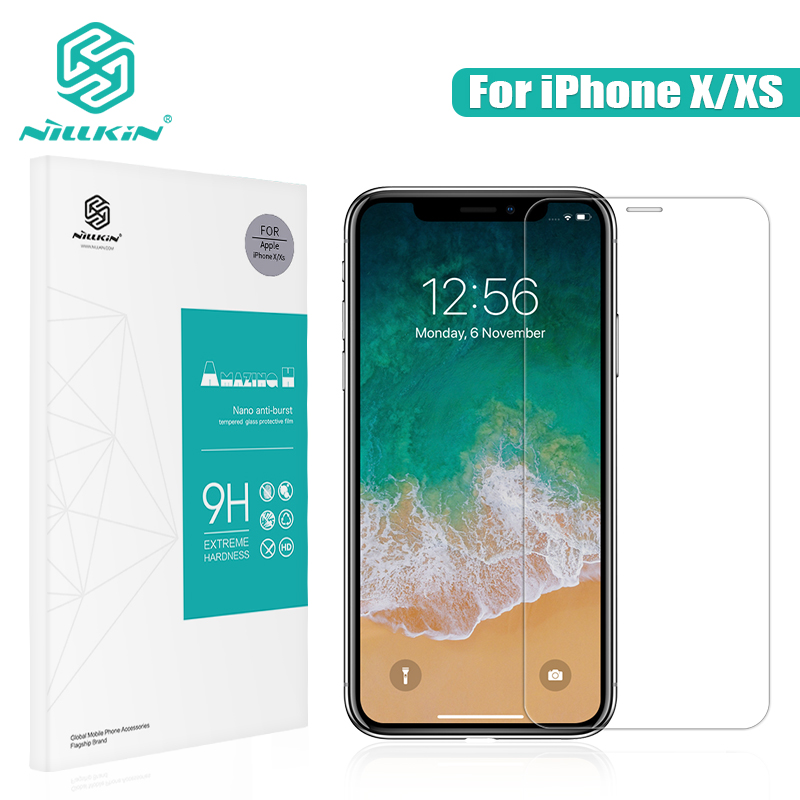NILLKIN for iphone x glass screen protector Amazing 9H 0.33mm Film for iPhone XS tempered glass 5.8'' for iphonex screen cover|tempered glass nillkin|nillkin amazing|tempered glass film - title=