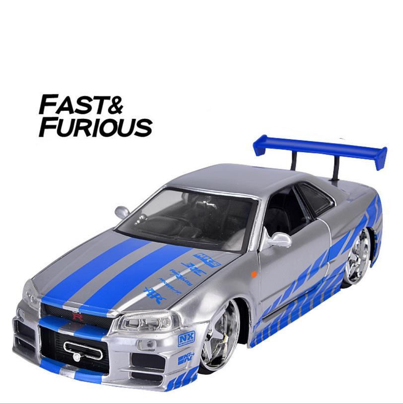 JADA High simulation Nissan Skyline GTR-R34 1:24 advanced alloy car model diecast metal model toy vehicles Collection Car Model autoart 1 18 nissan alto skyline nismo s1 alloy model car page 5