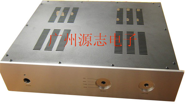 430*350*100mm #M1 Premium Sound Pre-amp chassis/ Full aluminum Power amplifier chassis / AMP Enclosure / DIY AMP case BOX queenway 2210 new l panel cnc full aluminum chassis audio box power amplifier case 362mm 220mm 100mm 362 220 100mm