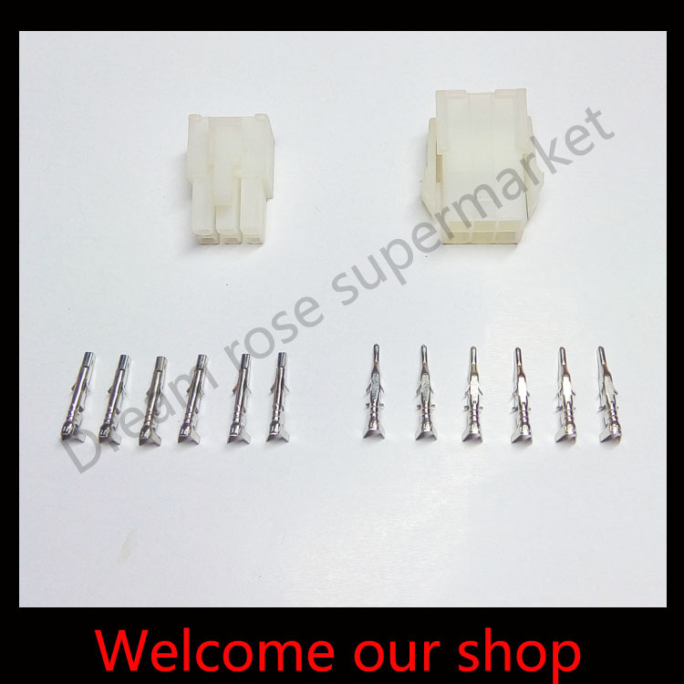 10sets 6 Pin/way 4.2mm 5557automotive terminals wire cable connector ...
