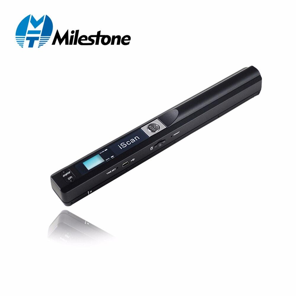מיילסטון נייד סורק 900 dpi Iscan כף יד A4 מסמך סורק JPG ו-pdf Formate MHT-IScan01