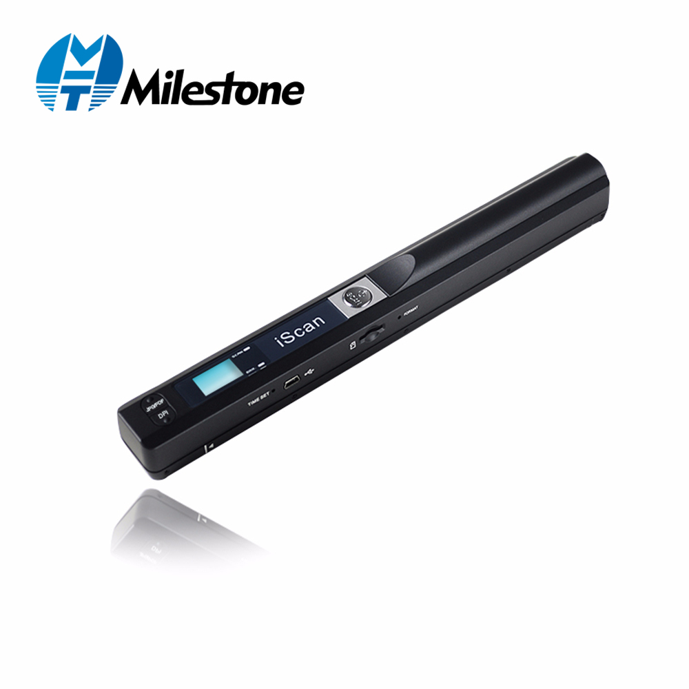 Milestone Portable Scanner wireless USB document A4 paper book color photo image scan handheld JPG and PDF iscan01