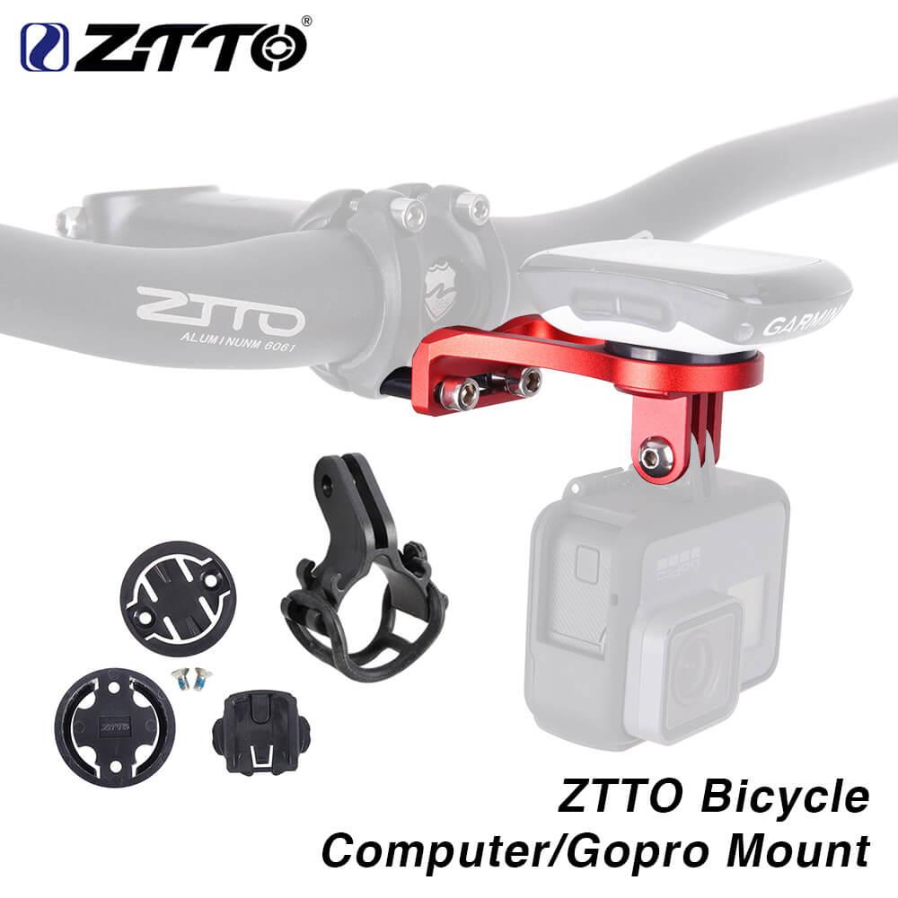 ZTTO MTB Road Bike Mileomete Camera Holder Handlebar Extension Bicycle Stopwatch GPS Cellphone Light