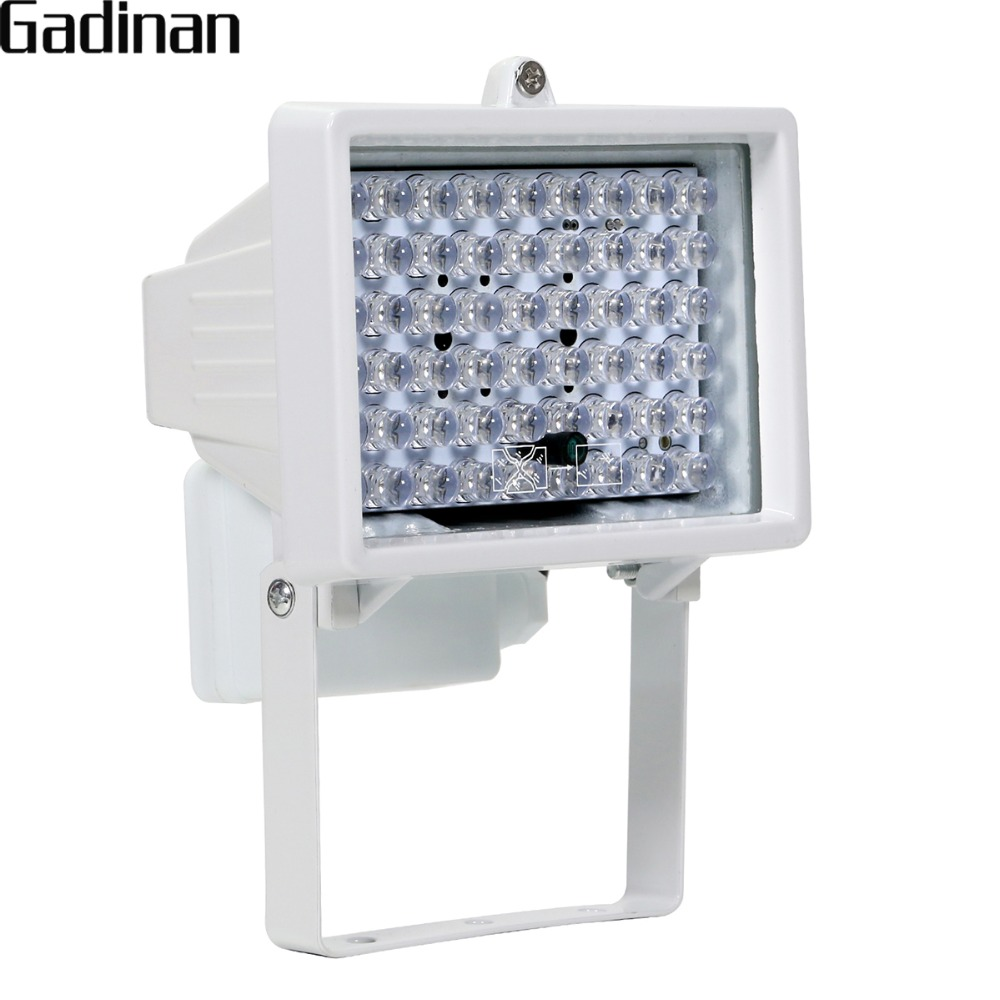 GADINAN 54 PCS LED DC 12V IR Illuminator for Night Vision Waterproof Outdoor LED Infrared Light for CCTV Security Camera keyshare dual bulb night vision led light kit for remote control drones