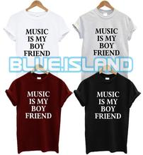 MUSIC IS MY BOYFRIEND T SHIRT FASHION TUMBLR HIPSTER SWAG DOPE QUOTE PRESENT NEW