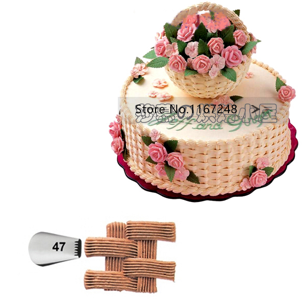 Cake Decorating Writing Techniques : #47 Basketweave Basket Weave Tips Cake Decorating Tips ...