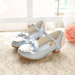 2018 Детская осенняя кожаная обувь с бантом для девочек, модная удобная мягкая подошва, повседневная обувь для маленьких детей, vk11