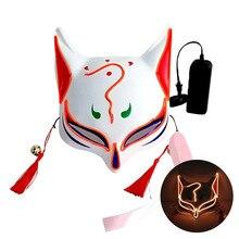 Светодиодный маска на Хэллоуин, маски для чистки, тушь для ресниц, костюм, DJ, вечерние светильник, светящиеся в темноте, 10 цветов для выбора