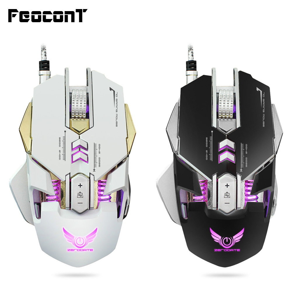 Mechanical Gaming Mouse Wired Macro Definition Freedom Set Up 7 Buttons 4-Level Adjustable DPI Max 3200DPI Professional USB Mice