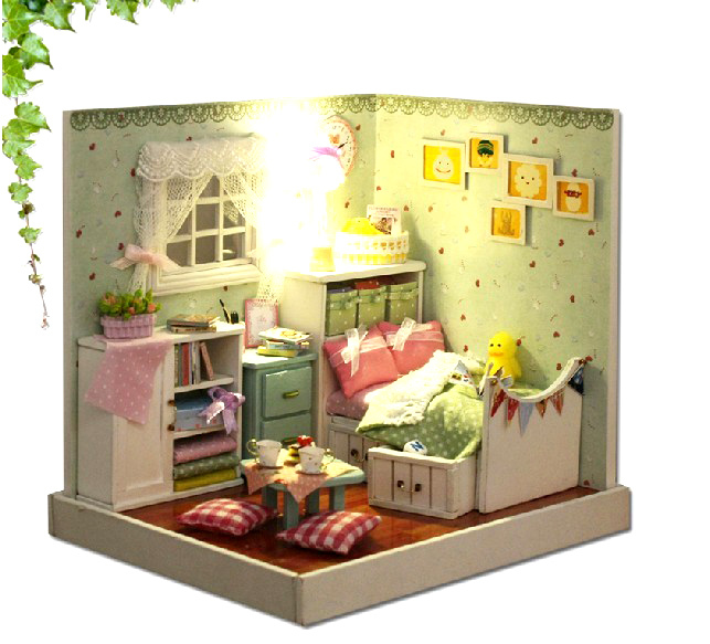 Mini Kitchen Room Box: 3D DIY Dollhouse Kit Room Box Miniatures Furniture Sets
