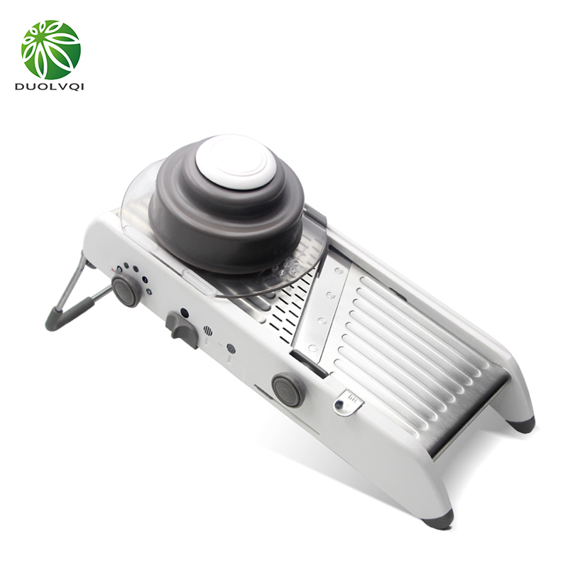 Duolvqi New vegetables cutter stainless steel Mandoline Slicer Onion Potato Cutter Carrot Grater kitchen accessories adjustable mandoline slicer professional grater