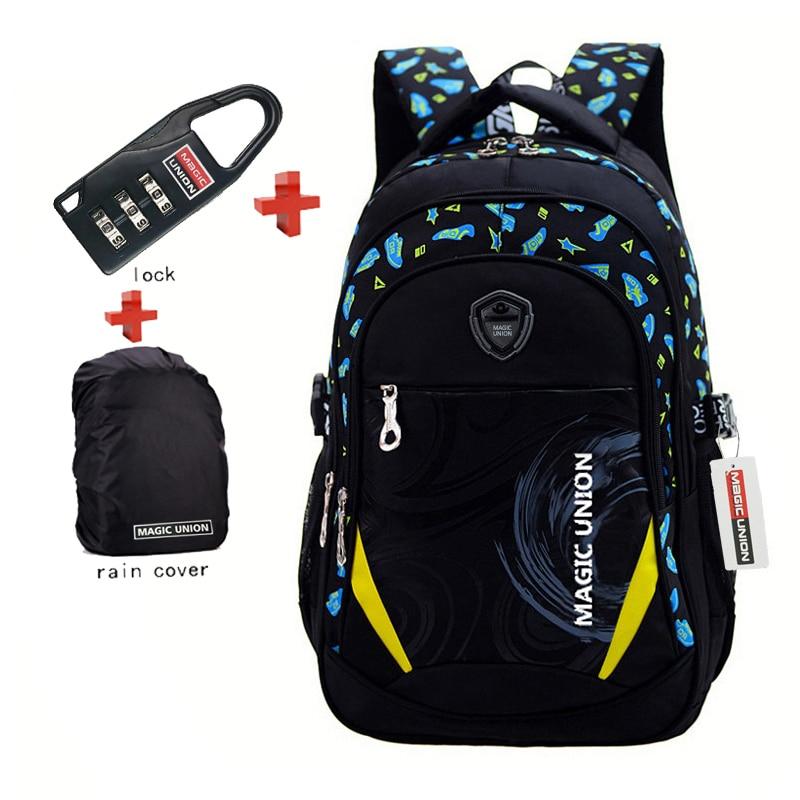 School-Bags Backpack Children Lock Raincover Zip Infantil Brand-Design
