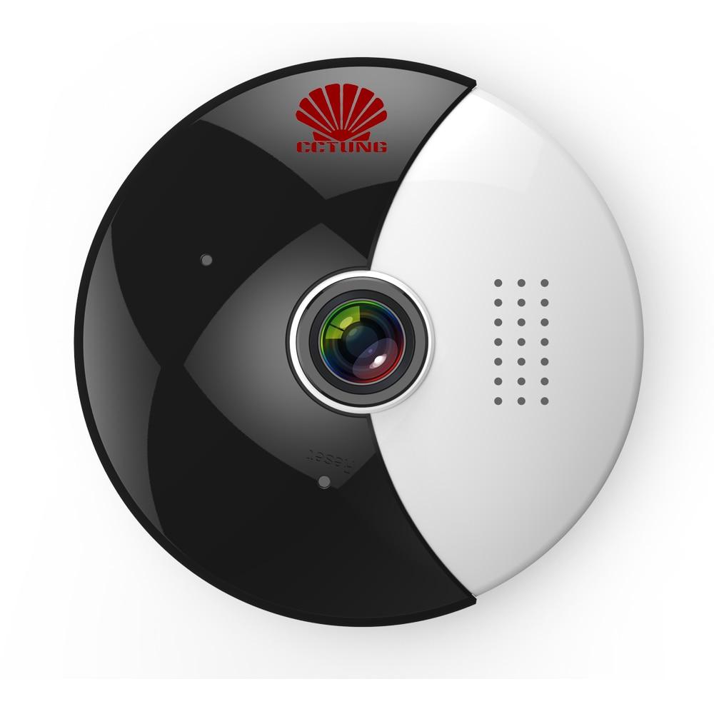 360 Moon VR Panoramic WIFI IP Camera with 1.3MP Fish Eye & Dual Stream Image Video & Night Infrared with Free Android & iOS APP комплектующие для сигнализации easy eye ip camera wifi 32g