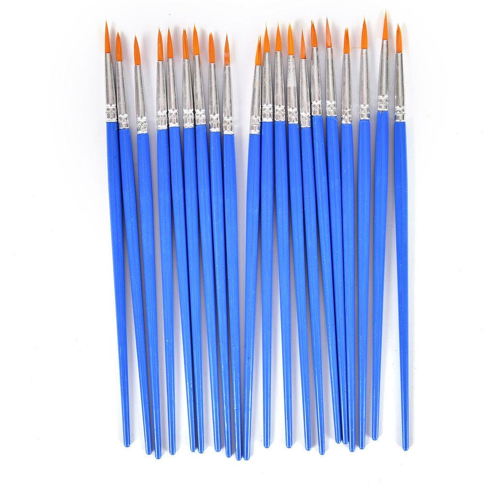 10Pcs/Lot Nylon Hair Paint Brush Oil Painting Brushes Watercolor Gouache Paint Brushes Different Size Artist Fine Art Supplies