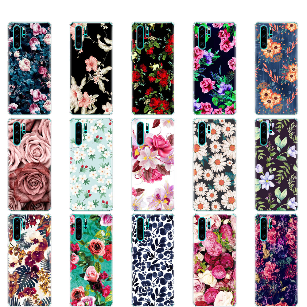 Case For Huawei P30 Pro Case Cover Silicone TPU Phone Coqa For Huawei P30 Pro VOG-L29 ELE-L29 P30 Lite Flower Skin Shockproof