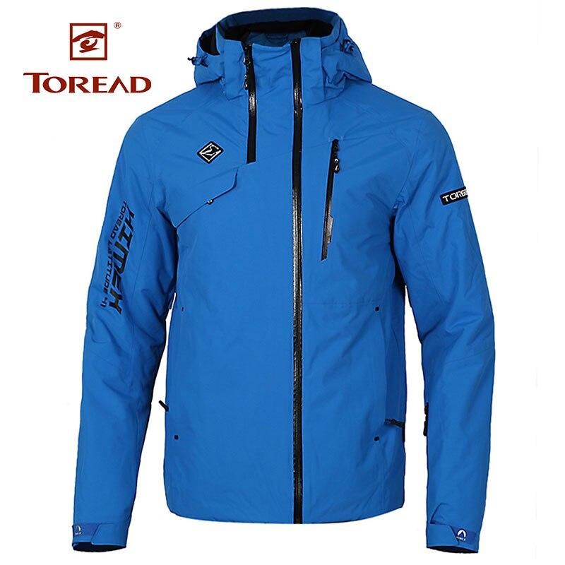 Toread 2018 для мужчин's осень зима новый пеший Туризм Открытый альпинистское снаряжение ветрозащитный Теплый Лыжная куртка