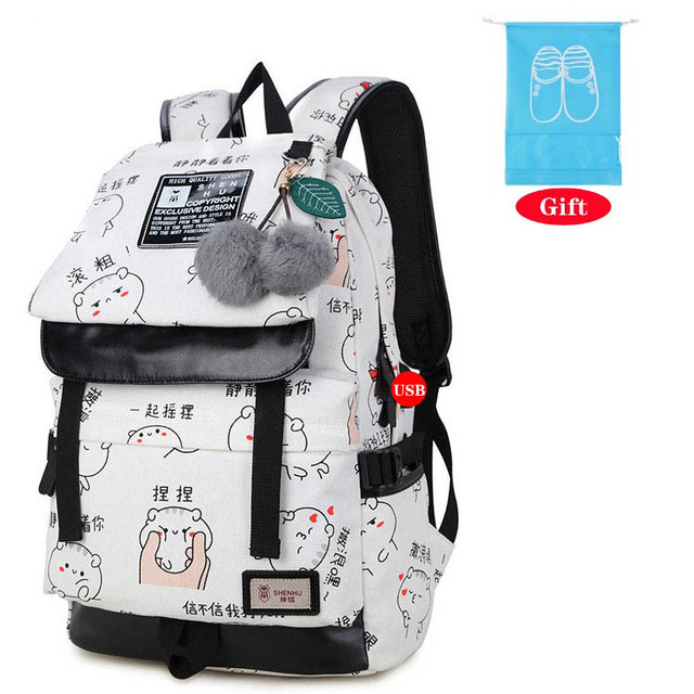 bc3c1afae4 Cute Lightweight Canvas Backpack Waterproof School Backpacks Most Durable  School Bag for Teenage Girls Women Backpack Mochilas