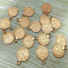 Цыганский Бохо пляжный шик резьба цветок серебро золото монета талисманы для изготовления ювелирных изделий Ожерелье Этнические турецкие племенные DIY кулон