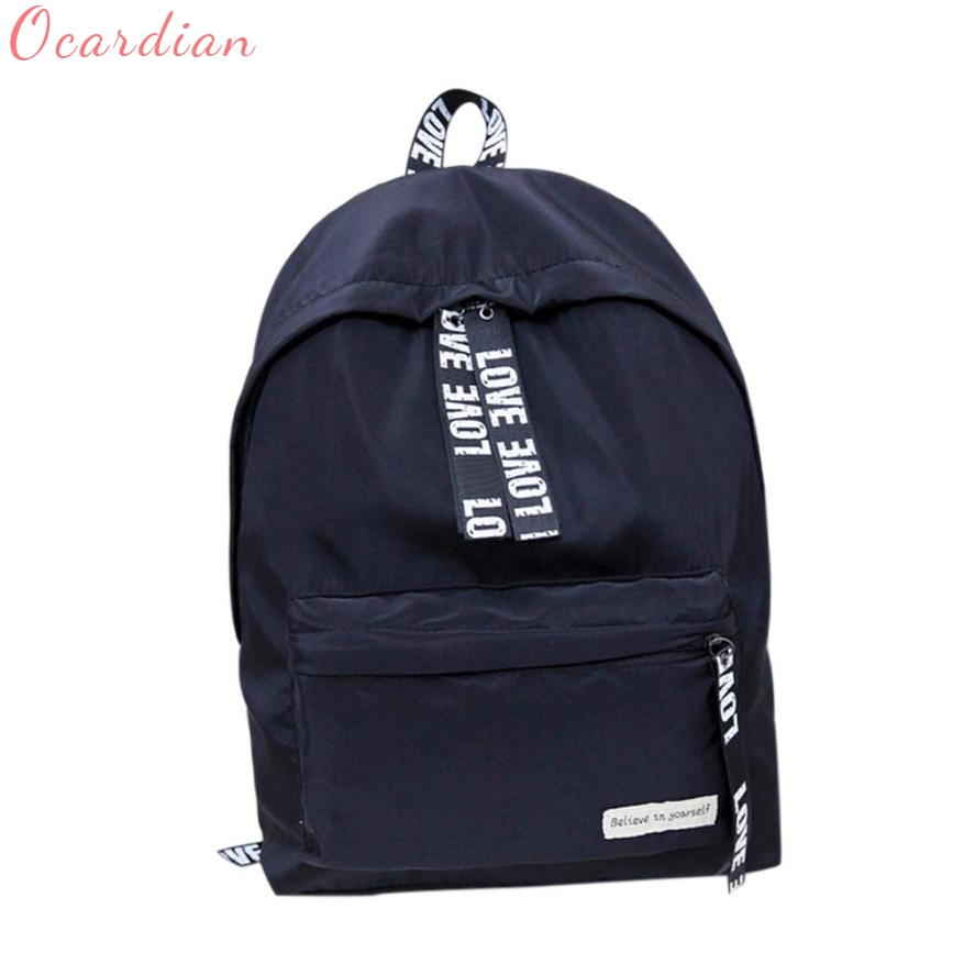 Girls Boys Letter School Bag Travel Backpack Satchel Women Shoulder Rucksack Mochila Drop Shopping Gift 17July14
