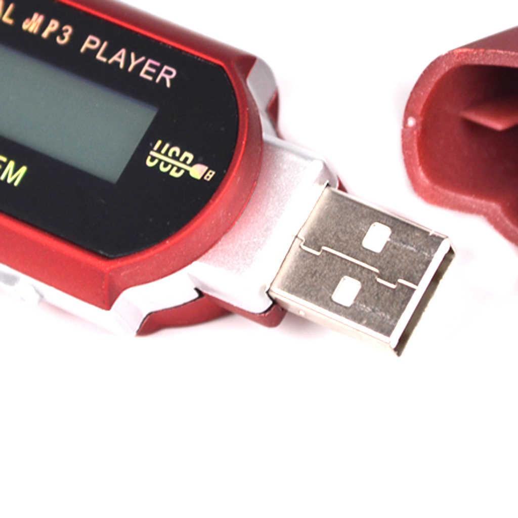 Portatile Mini MP3 Player LCD Display Digitale USB del Bastone di Memoria di TF di Sostegno Della Carta FM Radio Tuner Uscita Cuffie da 3.5mm