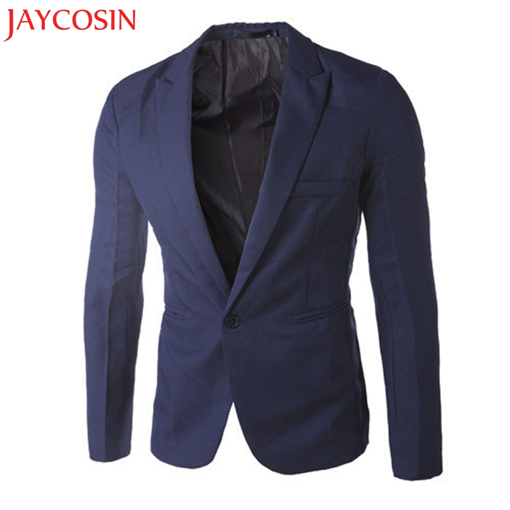 Hot 2017 New Stylish Charm Men s Casual Slim Fit One Button Suit Blazer Coat Jacket