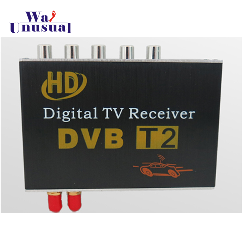 2018 Hot Auto Parts <font><b>Car</b></font> Accessories HD DVB-T2 Double 2 Tuner Digital <font><b>TV</b></font> Receiver <font><b>Car</b></font> DVD Player Free Shipping image