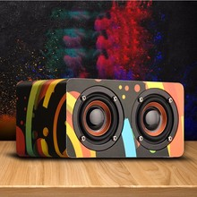 цена на Portable Color Wooden Bluetooth Speaker Support AUX TF card Audio Wireless Loudspeaker Tool Mobile Home Stereo Bluetooth Speaker