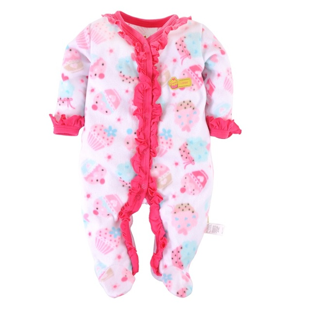 c648581e8dbc Cheapest Cute Baby Girls Rompers Fleece Warmer Winter Baby Clothes ...