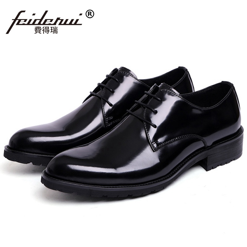 Classic Formal Man Platform Dress Business Shoes Patent Leather Wedding Oxfords Luxury Brand Round Toe Derby Mens Footwear XE67Classic Formal Man Platform Dress Business Shoes Patent Leather Wedding Oxfords Luxury Brand Round Toe Derby Mens Footwear XE67