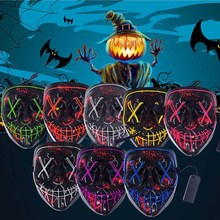 Halloween Mask LED Maske Light Up Party Masks Neon Maska Cosplay Mascara Horror Mascarillas Glow In Dark Masque matador mp47 hectorra 3 225 45 r18 95y