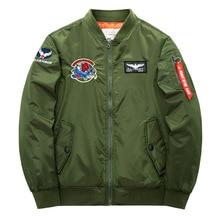 2019 Taktis Militer Pria Kita Ma-1 Jaket Bomber Pria Slim Bisbol Mantel dengan Patch Tentara Jaket Tahan Air Jaket