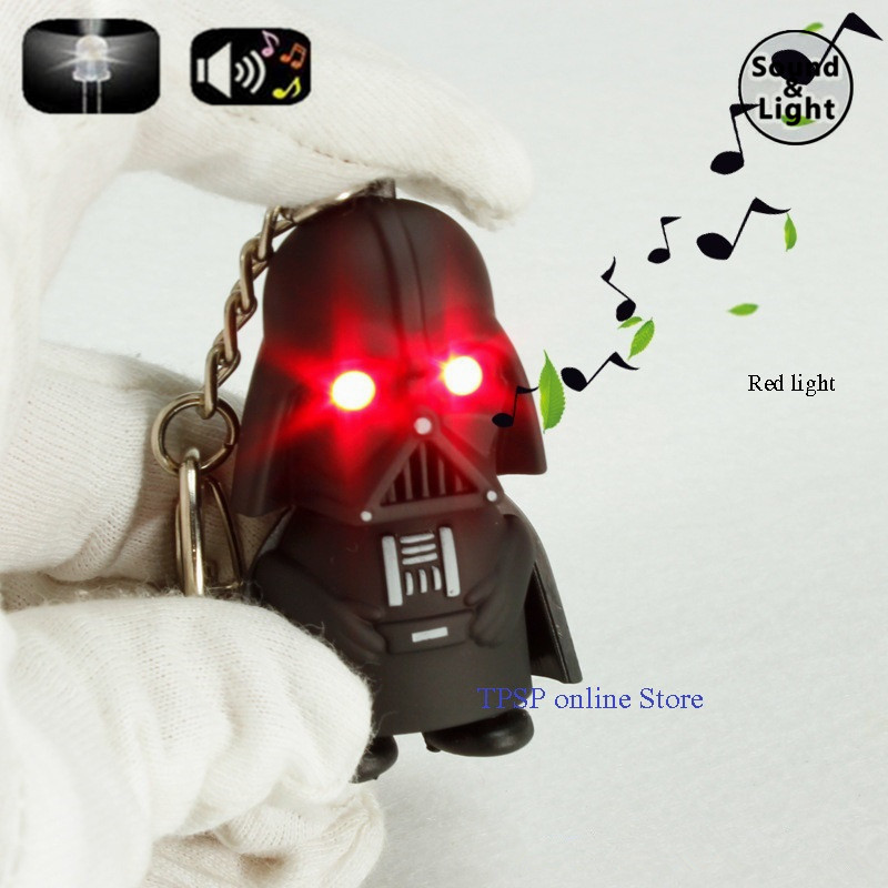 cartoon series Darth vader LED sound and light key chain holiday party gifts kid toys
