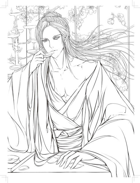 US $17 15 7% OFF|Chinese ancient figure line drawing book cartoon art:  pencil watercolor painting book for copy ,able to used as coloring book-in
