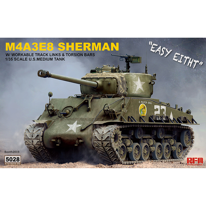 1/35 RYEFIELD MODEL RM5028 M4A3E8 SHERMAN Model Hobby