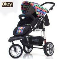 Детская Роскошная тележка, лидер продаж, детская коляска, Высокая Пейзаж коляска, Отличная подвеска трехколесный велосипед, двухсторонняя