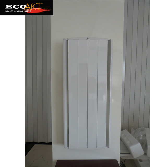 1000w Vertical Wall Mounted Aluminium Electric Radiator Storage Heater With Built In Lcd Thermostat