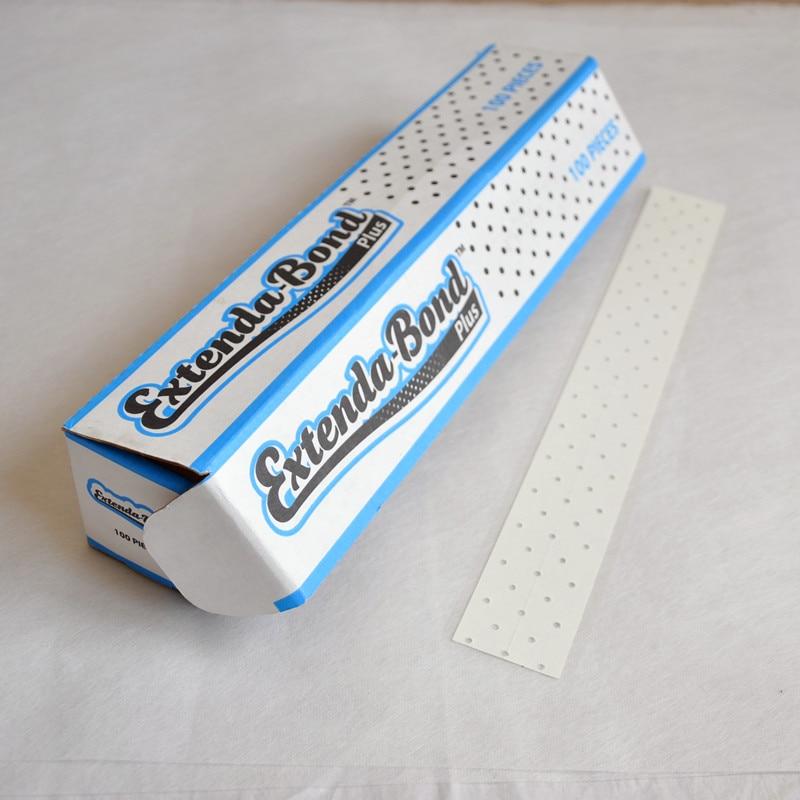 100 шт. кожи дышащий двухсторонней клейкой Клейкие ленты расширение Бонд воздуха Flex Plus для Кружево Искусственные парики/парик