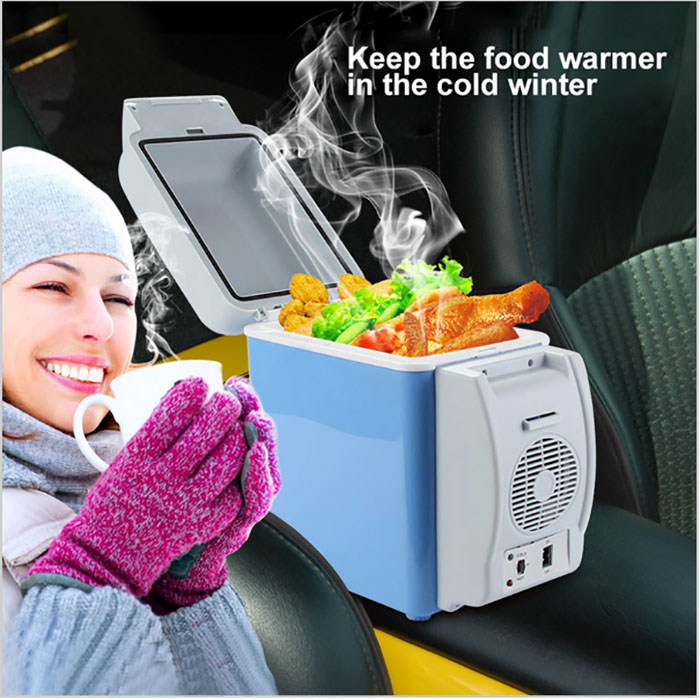 Car Mini Refrigerator 7.5L Portable Cool Box Warmer Home Traveling DC 12V Less Noise Fridge Freezer Compressor