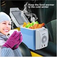 Portable 7.5L Mini Car Refrigerator Dual use Home Traveling Mini Fridge Freezer Cool Box Warmer Refrigerator Fridge Auto Supply