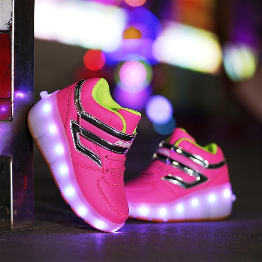 Roller shoes age - Shoes Z Ko Ami Dzieci Roller Shoes Wiec Ce Led Luminous Sneaker Wysoka G Ra Trampki Z O Wietleniem Dla Ch Opca 506003