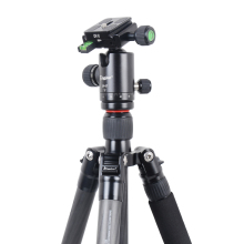 CC-258 Foldable Carbon Fiber Low Angle Capturing Digital camera Photograph Touring Tripod Anodic Oxidation CNC Machined 10 KG Load Capability