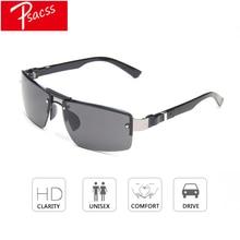 Psacss NEW Sunglasses Men Vintage Square Alloy Frame Mens Driving Fishing Sun Glasses High Quality Goggle lentes de sol hombre