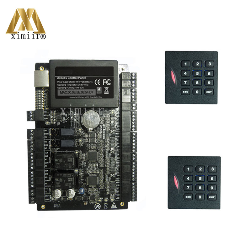 Access Control Constructive Tcp/ip Access Control Board Rfid Card Access Control Panel C3-200 With 2pcs Kr102e Card Reader Wiegand Reader With Keyboard